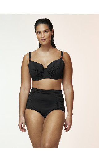 Black High Waisted Swim Briefs