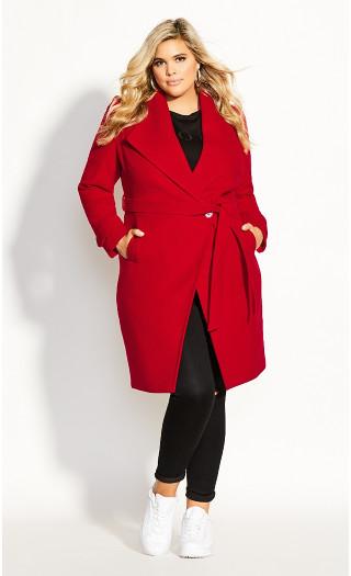 So Chic Coat - lust red