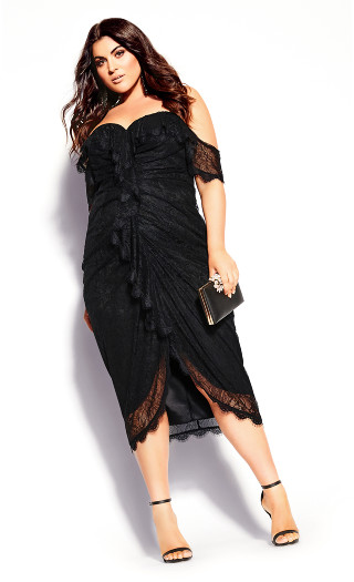 Lace Va Voom Dress - black