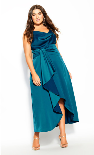 Plus Size Simplicity Dress - viridian