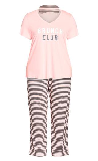 Brunch Club Sleep Set - pink