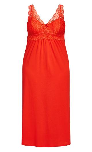 Sexy Maxi Sleep Dress - red