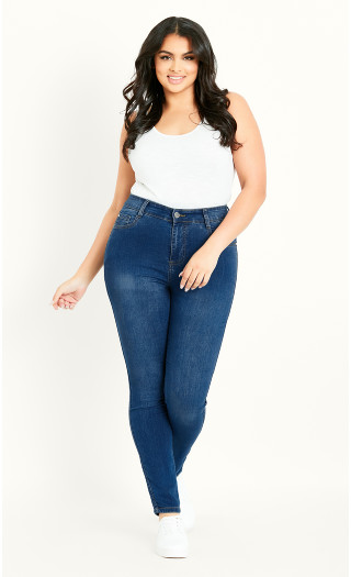 Skinny Jean Mid Denim - regular