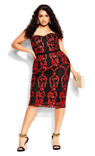 Dolce Rose Dress - black