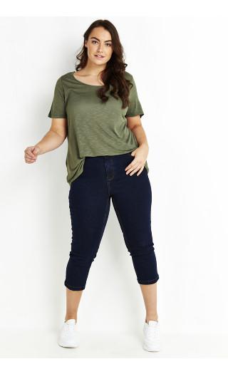 Crop Denim Jeans - indigo