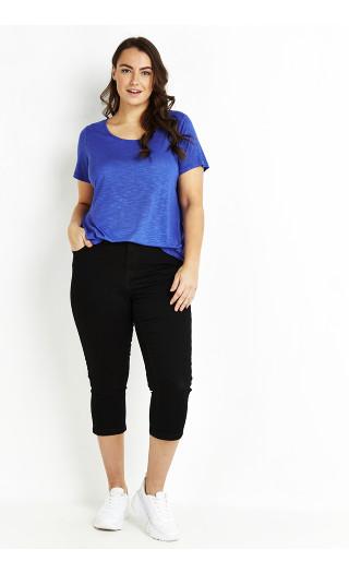 Crop Denim Jeans - black