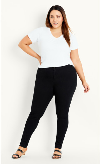 High Waist Skinny Jean - black