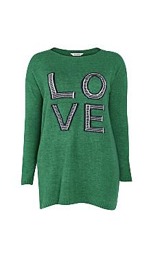 Love Tunic Jumper - green