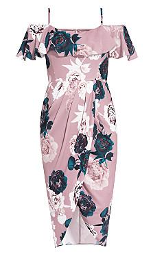 Floral Quartz Dress - blush