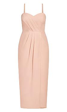 Sweet Drape Maxi Dress - pink