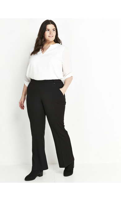 Black Bootcut Trousers