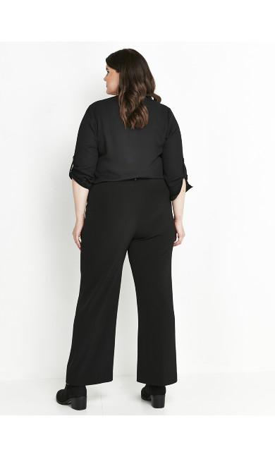 Black Regular Wide Leg Trousers