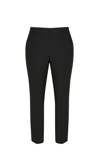 Black Regular Tapered Trousers