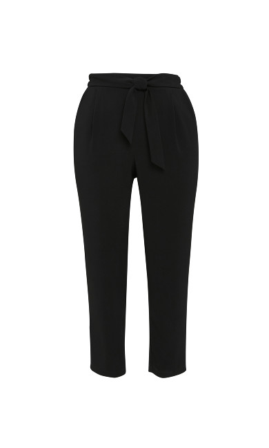 Soft Tie Tapered Trouser - black