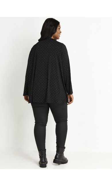 Studded Cover Up - black