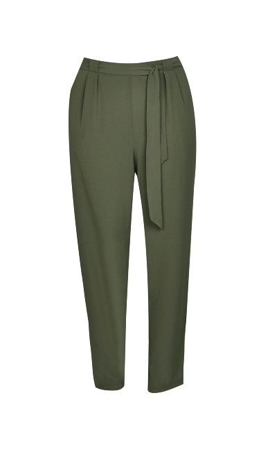 Pebble Belted Trousers - khaki