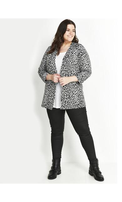 Grey Animal Print Jacket