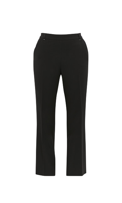 Black Straight Leg Workwear Trousers