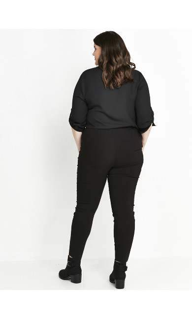 Stretch Tailored Trousers Black - petite