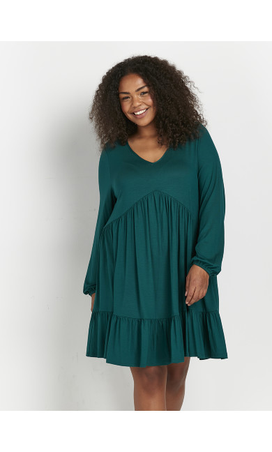 Tiered Tunic Dress - teal
