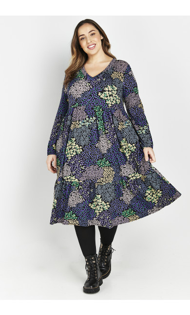 MUTLI PATCHWORK FLORAL TIERED