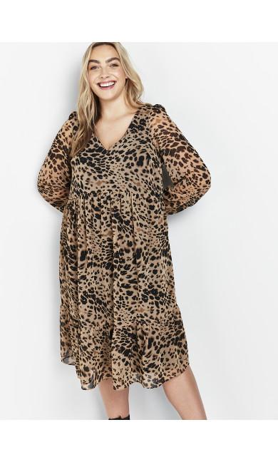 Neutral Animal Print Dress