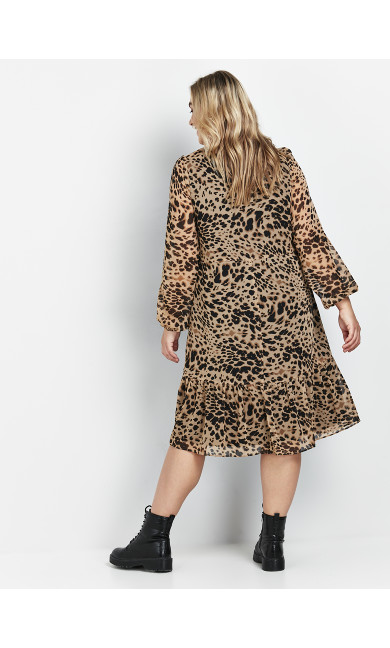 Neutral Animal Print Dress