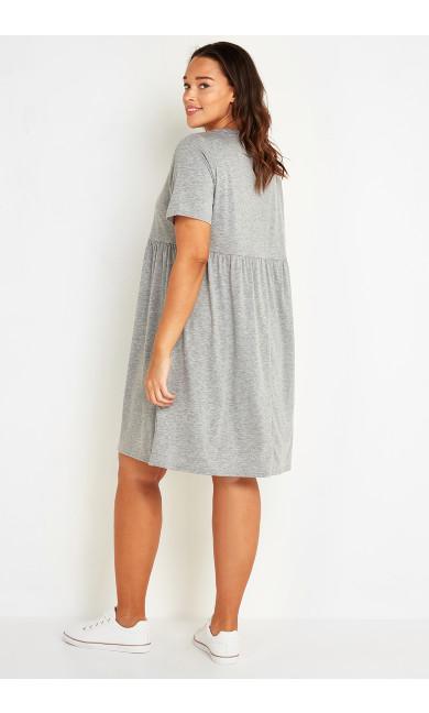 Gathered Seam Dress - grey