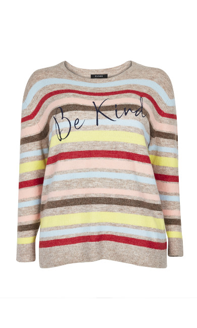 Oatmeal Rainbow 'Be Kind' Jumper
