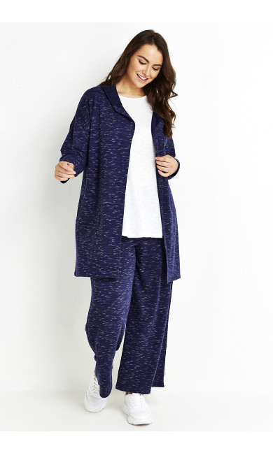 Relaxed Lounge Trouser - navy marle