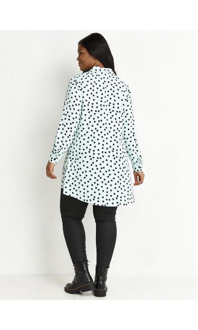 Heart Hi Lo Shirt - mint