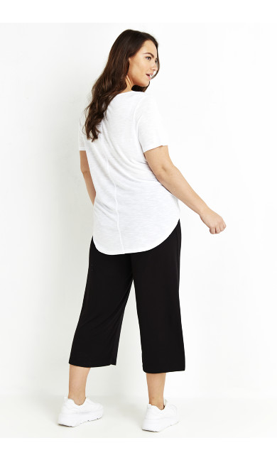 Jersey Crop Trousers - black