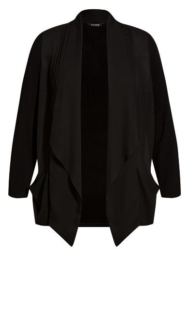 Waterfall Jacket - black