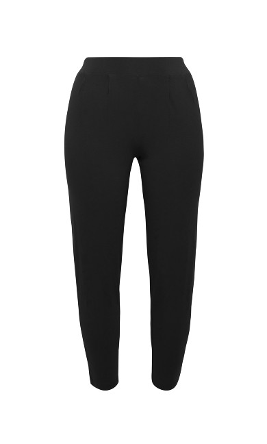 Jersey Tapered Trousers - black