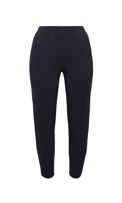 Jersey Tapered Trousers - navy