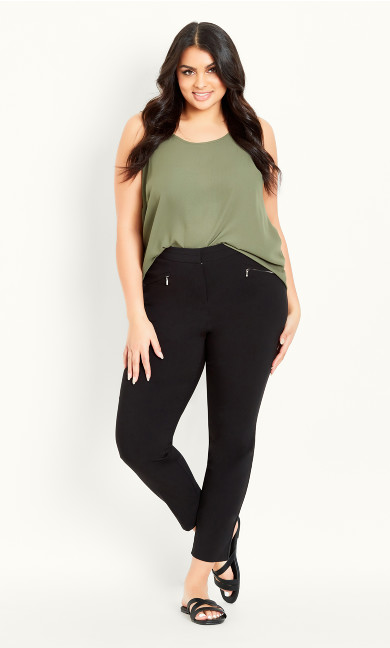 Black Regular Tailored Trousers