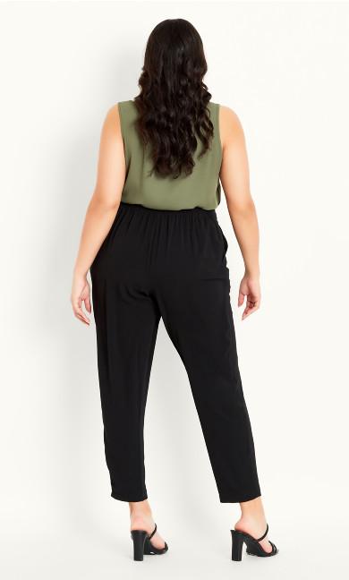Pebble Belted Trouser - black