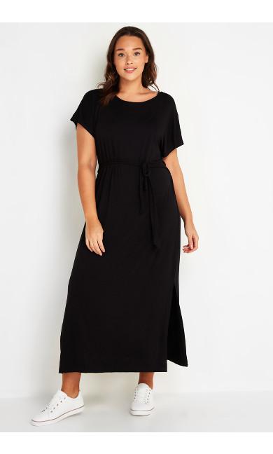 Maxi T-Shirt Dress - black