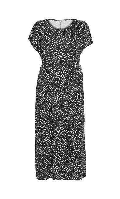 Print T-Shirt Maxi Dress - black