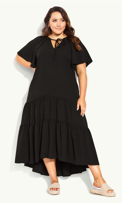 Tiered Maxi Dress - black
