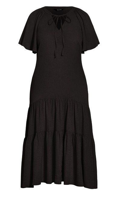 Tiered Maxi Dress - black