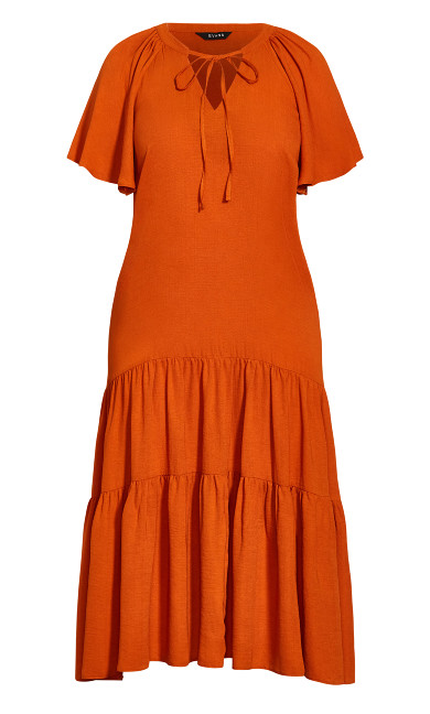 Tiered Maxi Dress - rust