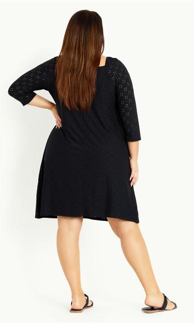 Broderie Dress - black