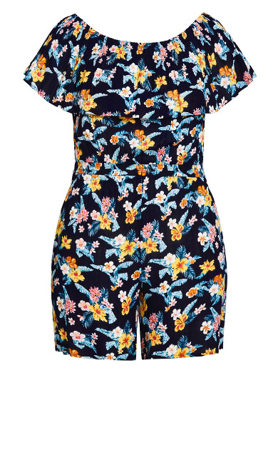 Tropical Playsuit - navy