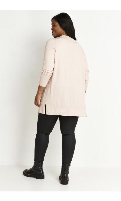 Fine Knit Cardigan - pink