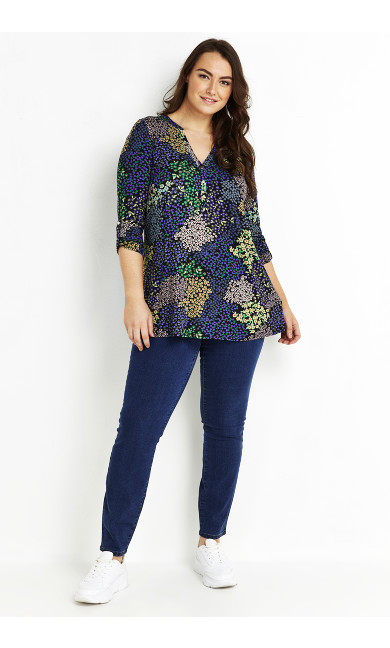 MULTI PATCHWORK FLORAL JERSEY