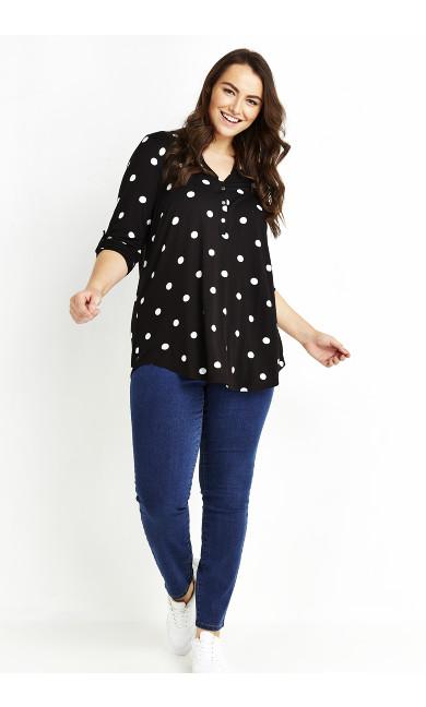Spot Jersey Shirt - black