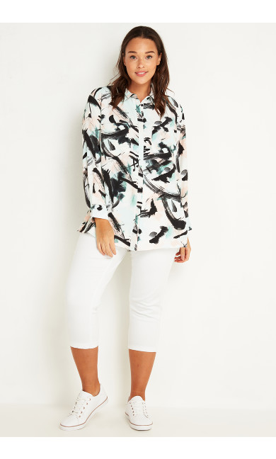 Brushstroke Pocket Shirt - multi