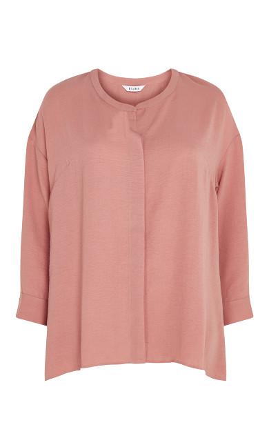 Relaxed Hi Lo Shirt - pink