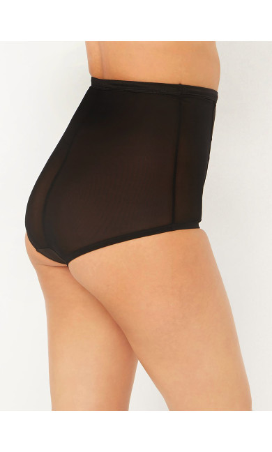Black High Waisted Mesh Knickers